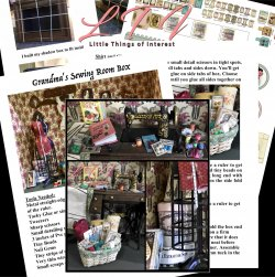 GRANDMA'S SEWING ROOM in Miniature One Inch Scale Tutorial Instructions Pdf Download
