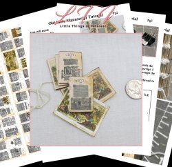 OLD BIBLE MANUSCRIPT Miniature One Inch Scale PDF And Tutorial Download