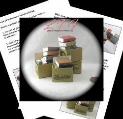 OLD BOOKS IN A BOX Miniature One Inch Scale Tutorial PDF Download