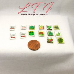 SEED PACKETS in Miniature One Inch Scale PDF Sheet Flower Vegetable Seeds Download