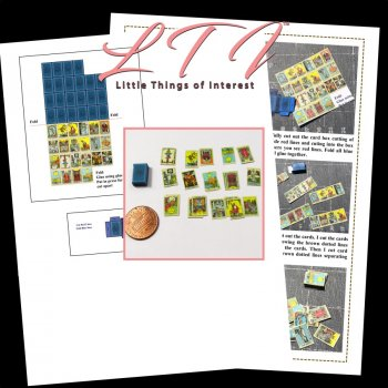 22 TAROT CARDS Major Arcana Miniature Tarot Deck And Box Printable Tutorial Miniature Dollhouse Scale DIY Download