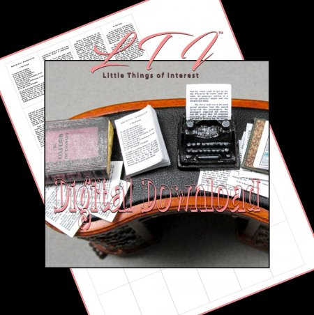 AUTHORS MANUSCRIPT WRITER Miniature One Inch Scale PDF Download