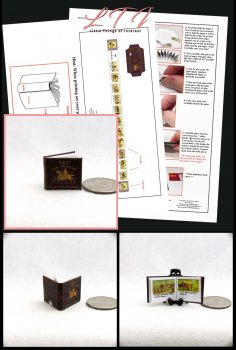 ABC'S OF FOX HUNTING Download Pdf Book and Construction Tutorial for a Miniature One Inch Scale Book