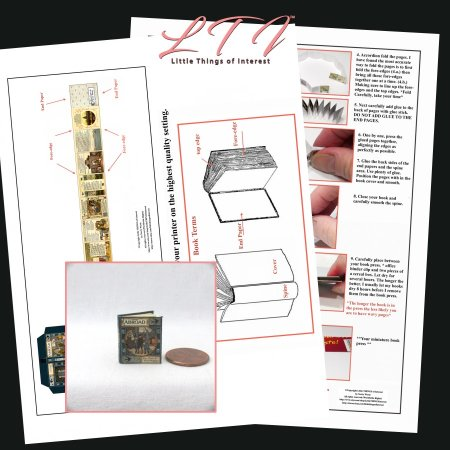 ABROAD Download Pdf Book and Construction Tutorial for a Miniature One Inch Scale Book