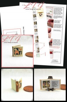 ABSURD ABC'S Download Pdf Book and Construction Tutorial for a Miniature One Inch Scale Book