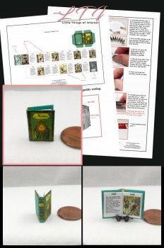 ALADDIN or The Wonderful Lamp Download Pdf Book and Construction Tutorial for a Miniature One Inch Scale Book