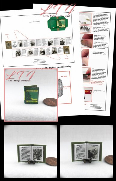 AROUND THE WORLD IN EIGHTY DAYS Download Pdf Book and Construction Tutorial for a Miniature One Inch Scale Book