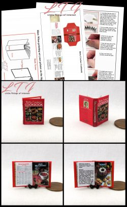 BETTY CROCKER Cookbook Download Pdf Book and Construction Tutorial Miniature One Inch Scale Book