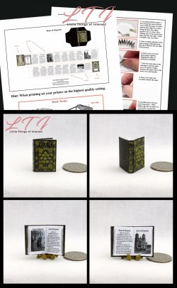 THE BOOK OF ETIQUETTE Download Pdf Book and Construction Tutorial for a Miniature One Inch Scale