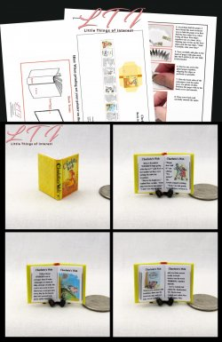 CHARLOTTE'S WEB Download Pdf Book and Construction Tutorial for a Miniature One Inch Scale Book
