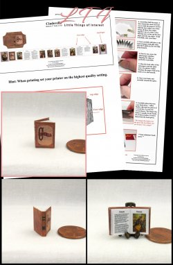CINDERELLA Download Pdf Book and Construction Tutorial for a Miniature One Inch Scale Book