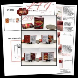 THE COMPLETE PIE COOKBOOK Download Pdf Book and Construction Tutorial Miniature One Inch Scale Book