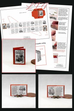 DAVID COPPERFIELD Download Pdf Book and Construction Tutorial for a Miniature One Inch Scale Book