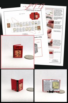 DOCTOR DOLITTLE Download Pdf Book and Construction Tutorial for a Miniature One Inch Scale Book