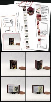 DR. JEKYLL AND MR. HYDE Download Pdf Book and Construction Tutorial for a Miniature One Inch Scale Book