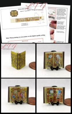 FARNESE BOOK OF HOURS Download Pdf Book and Construction Tutorial for a Miniature One Inch Scale Book