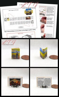 THE GRAPES OF WRATH Download Pdf Book and Construction Tutorial for a Miniature One Inch Scale Book