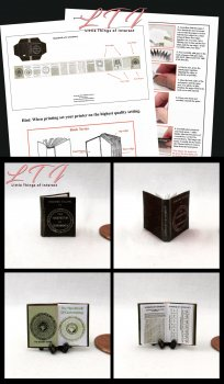 HANDBOOK OF CARTOMANCY or The FORTUNE TELLERS HANDBOOK Download Pdf Book and Construction Tutorial for a Miniature One Inch Scale Book