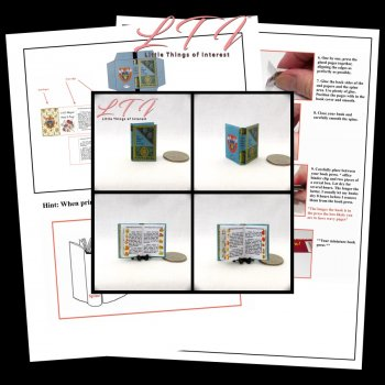 1000 MAGICAL HERBS & FUNGI Textbook Download Pdf Book and Construction Tutorial Miniature One Inch Scale Book