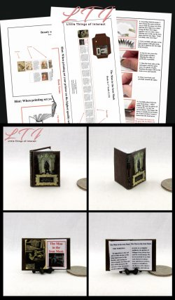 THE MAN IN THE IRON MASK Download Pdf Book and Construction Tutorial for a Miniature One Inch Scale Book