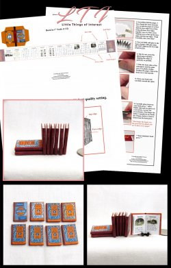 McGUFFEY READERS 8 Miniature Books Set Download Pdf Book and Construction Tutorial for a Miniature One Inch Scale Book