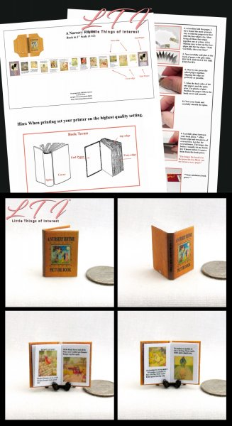 A NURSERY RHYME Download Pdf Book and Construction Tutorial for a Miniature Scale One Inch Scale