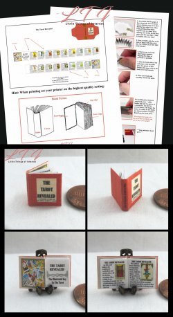 THE TAROT REVEALED Download Pdf Book and Construction Tutorial for a Miniature One Inch Scale Book
