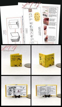 THE VEGETARIAN COOKBOOK Download Pdf Book and Construction Tutorial for a Miniature One Inch Scale Book