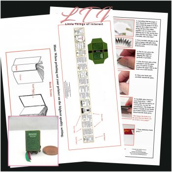 MAGIC BOOK OF SPELLS Kit PDF and Instruction Tutorial in Miniature One Inch Scale
