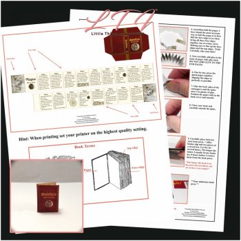 MALIFICO SPELL BOOK Kit PDF and Instruction Tutorial in Miniature One Inch Scale