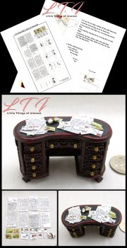 MAIL LETTERS SET Kit PDF and Instruction Tutorial in Miniature Half Inch Scale