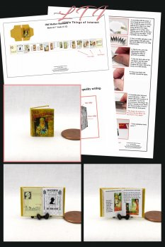OLD MOTHER HUBBARD Book Kit PDF and Instruction Tutorial in Miniature One Inch Scale
