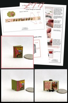NOAH'S ARK ABC'S Book Kit PDF and Instruction Tutorial in Miniature One Inch Scale