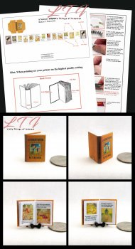 A NURSERY RHYME Book Kit PDF and Instruction Tutorial in Miniature One Inch Scale