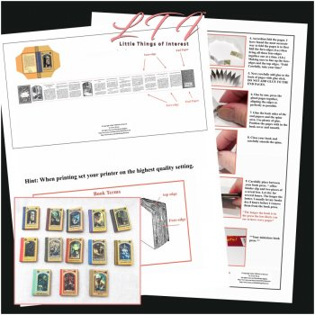 A SERIES Of UNFORTUNATE EVENTS Book Kit PDF and Instruction Tutorial in Miniature One Inch Scale