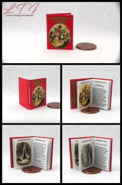 A CHRISTMAS CAROL Miniature Playscale Readable Illustrated Book