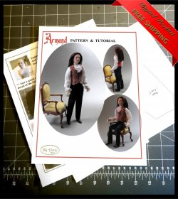 ARMAND Miniature One Inch Scale Man Doll PDF Tutorials Patterns Clothes and Hair Download (Intermediate)