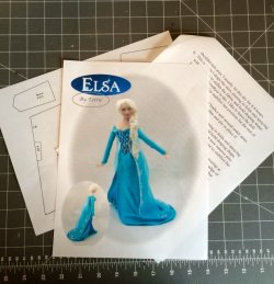 ELSA Miniature One Inch Scale Lady Doll PDF Instructions Patterns Clothes Download (Beginner)