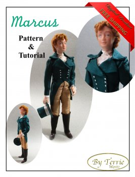 Dollhouse Doll MARCUS Man Doll DIY Pattern Tutorial PDF Dressing Miniature Dollhouse Scale Instant Download (Experienced)