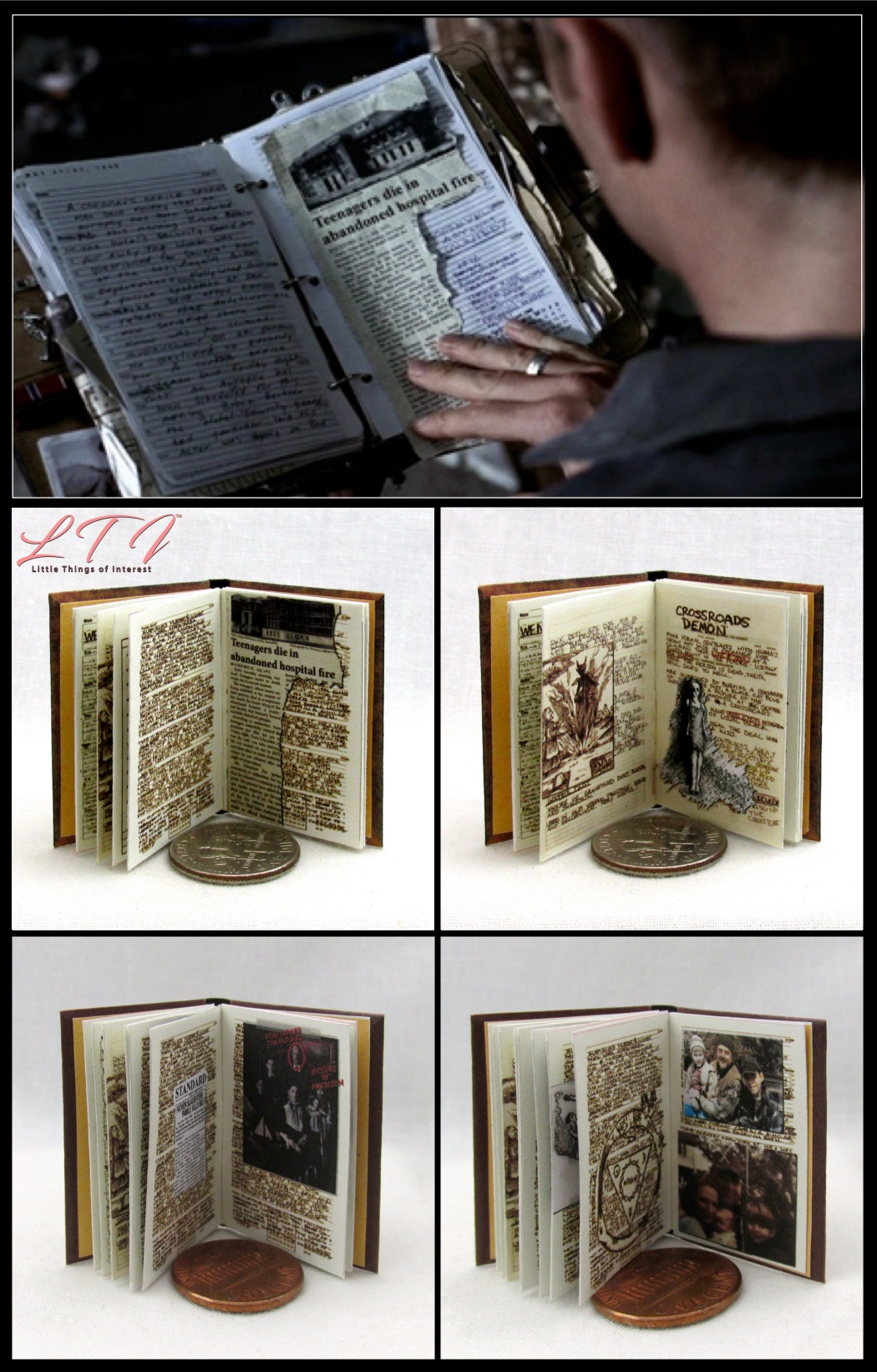 WINCHESTER DIARY Illustrated Miniature Book 1:12 Scale Readable SUPER NATURAL